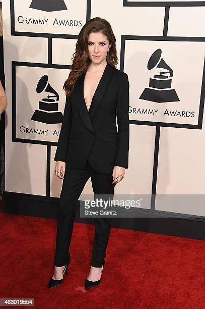 Actress Anna Kendrick attends The 57th Annual GRAMMY Awards at the STAPLES Center on February 8 2015 in Los Angeles California