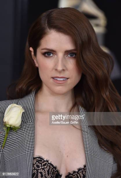 Actress Anna Kendrick attends the 60th Annual GRAMMY Awards at Madison Square Garden on January 28 2018 in New York City