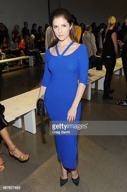 Actress Anna Kendrick attends the Altuzarra Spring 2016 fashion show during New York Fashion Week at Spring Studios on September 12 2015 in New York...