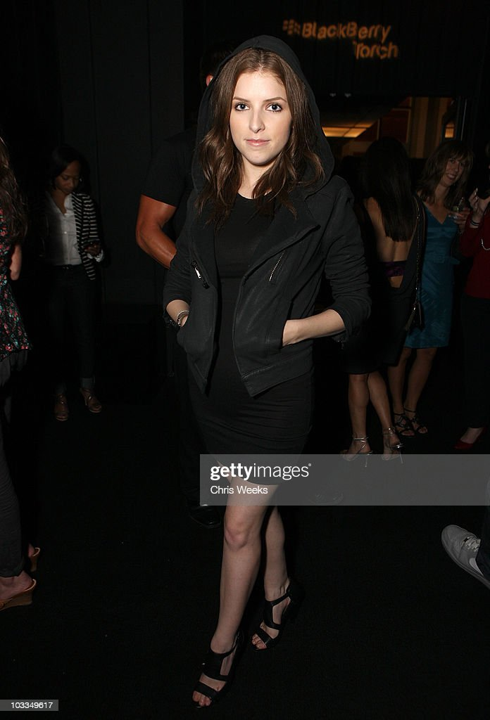 Actress Anna Kendrick attends the BlackBerry Torch from AT&T U.S. Launch Party on August 11, 2010 in Los Angeles, California.