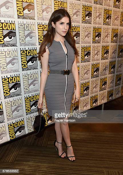 Actress Anna Kendrick attends the DreamWorks Animation press line during ComicCon International 2016 at Hilton Bayfront on July 21 2016 in San Diego...