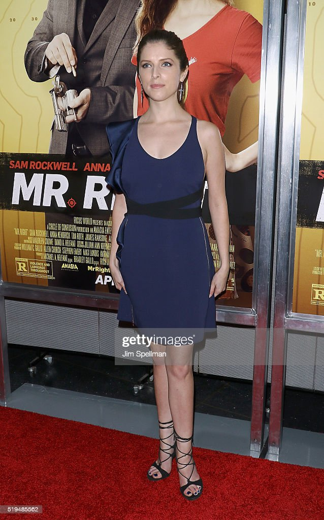Actress Anna Kendrick attends the 'Mr. Right' New York premiere at AMC Lincoln Square Theater on April 6, 2016 in New York City.