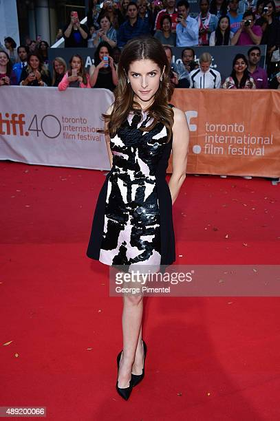 Actress Anna Kendrick attends the Mr Right premiere during the Toronto International Film Festival at Roy Thomson Hall on September 19 2015 in...