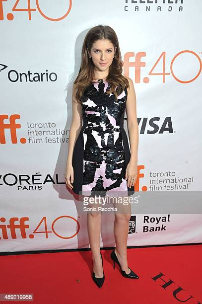 Actress Anna Kendrick attends the 'Mr Right' premiere during the Toronto International Film Festival at Roy Thomson Hall on September 19 2015 in...