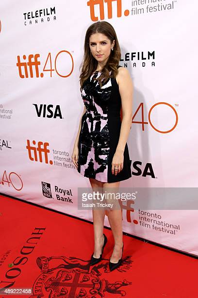 Actress Anna Kendrick attends the 'Mr. Right' premiere during the Toronto International Film Festival at Roy Thomson Hall on September 19, 2015 in...