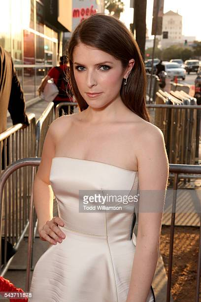 Actress Anna Kendrick attends the premiere of 20th Century Fox's Mike and Dave Need Wedding Dates at ArcLight Cinemas Cinerama Dome on June 29 2016...
