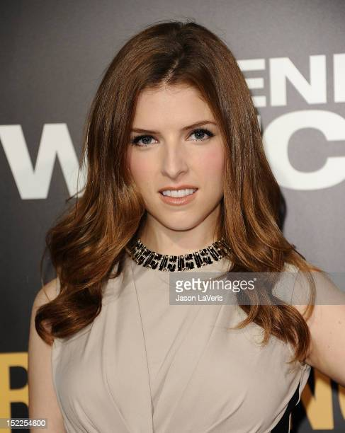 """Actress Anna Kendrick attends the premiere of """"End of Watch"""" at Regal Cinemas L.A. Live on September 17, 2012 in Los Angeles, California."""