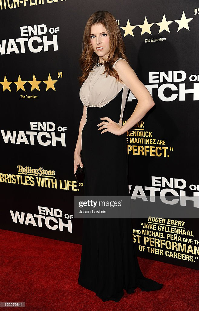 Actress Anna Kendrick attends the premiere of 'End of Watch' at Regal Cinemas L.A. Live on September 17, 2012 in Los Angeles, California.