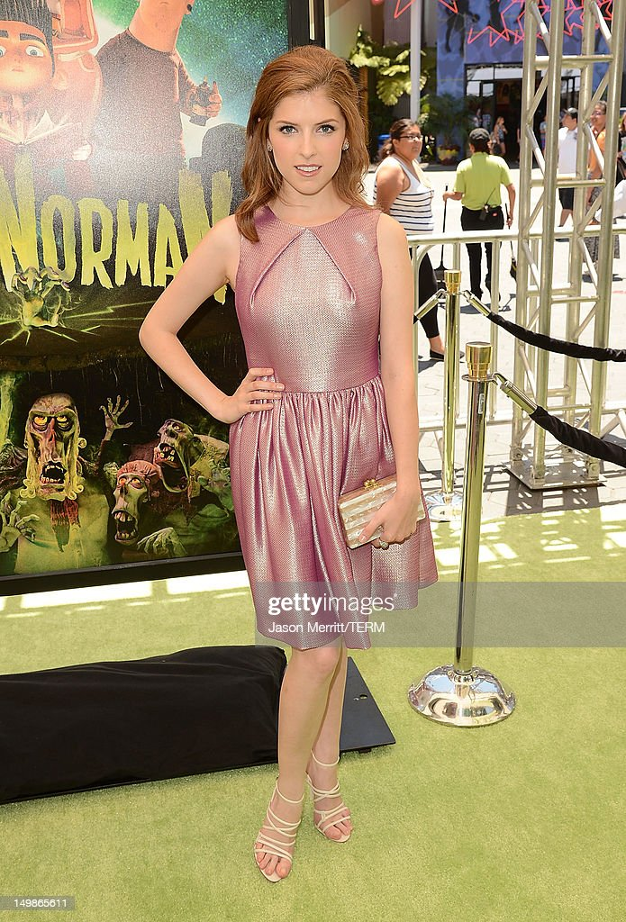 Actress Anna Kendrick attends the premiere of Focus Features' 'ParaNorman' held at Universal CityWalk on August 5, 2012 in Universal City, California.