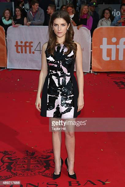 """Actress Anna Kendrick attends the premiere of """"Mr. Right"""" at Roy Thomson Hall during the 2015 Toronto International Film Festival on September 19,..."""