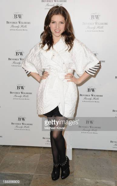 Actress Anna Kendrick attends the Pre-Oscar Poolside Party benefiting The Red Cross Haiti & Chile Relief Fund at the Beverly Wilshire - Four Seasons...