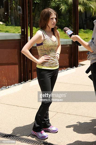 Actress Anna Kendrick attends the Reebok Women's Fitness event on June 16 2010 in Los Angeles California