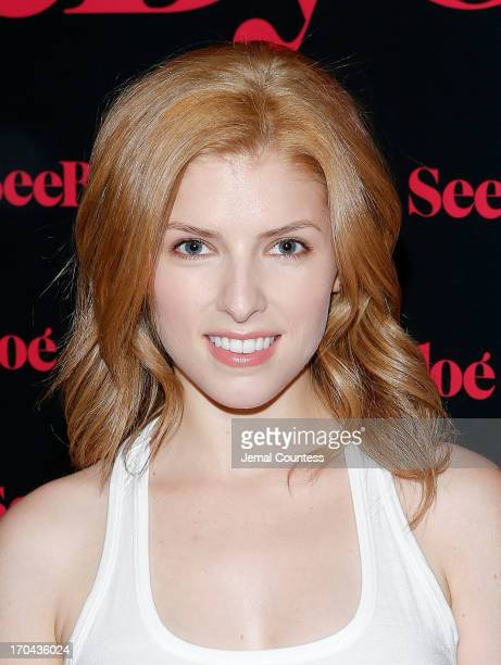 Actress Anna Kendrick attends the SeeByChloe Spring 2014 collection and premiere fragrance celebration at Industria Superstudio on June 12 2013 in...