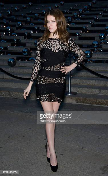 Actress Anna Kendrick attends the Vanity Fair party during the 10th annual Tribeca Film Festival at State Supreme Courthouse on April 27 2011 in New...