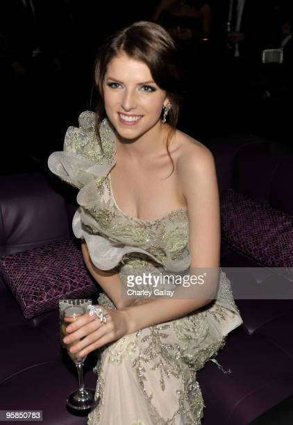 Actress Anna Kendrick attends The Weinstein Company Golden Globes After Party held at BAR 210 at The Beverly Hilton Hotel on January 17 2010 in...