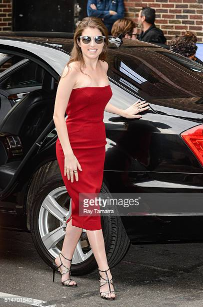 Actress Anna Kendrick enters 'The Late Show With Stephen Colbert' at the Ed Sullivan Theater on March 10 2016 in New York City