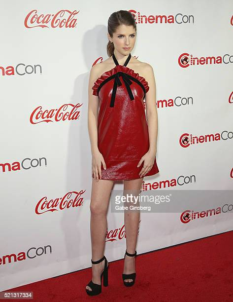 Actress Anna Kendrick one of the recipients of the Comedy Stars of the Year Award attends the CinemaCon Big Screen Achievement Awards at Omnia...