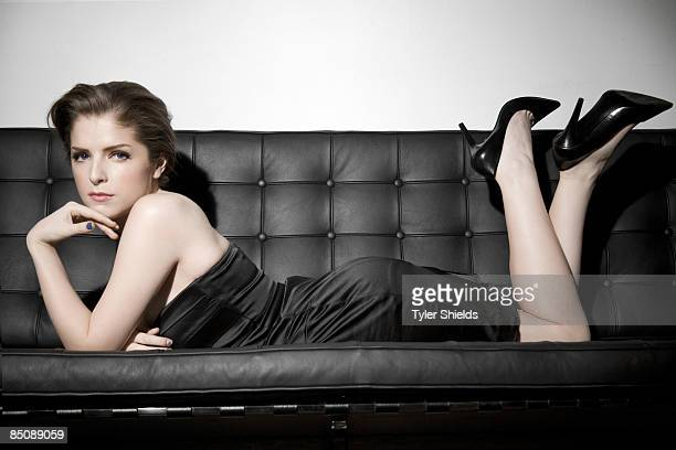 Actress Anna Kendrick poses for a portrait session in Los Angeles for Self Assignment