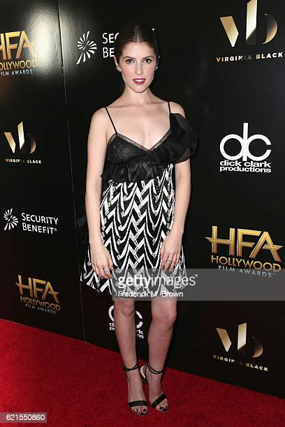 Actress Anna Kendrick poses in the press room at the 20th Annual Hollywood Film Awards at The Beverly Hilton Hotel on November 6 2016 in Beverly...