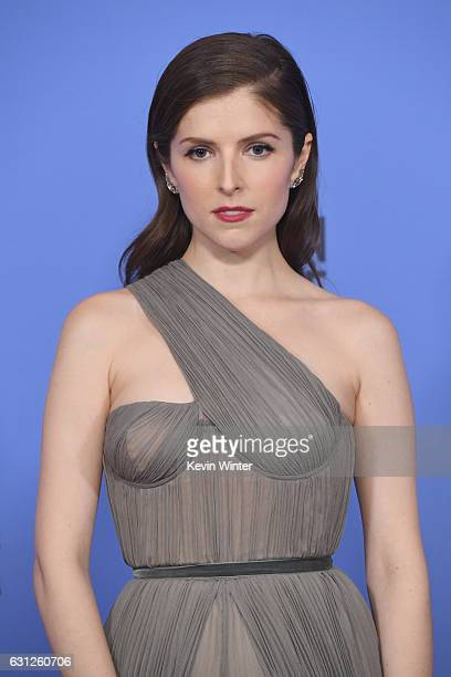 Actress Anna Kendrick poses in the press room during the 74th Annual Golden Globe Awards at The Beverly Hilton Hotel on January 8 2017 in Beverly...