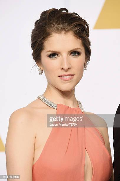 Actress Anna Kendrick poses in the press room during the 87th Annual Academy Awards at Loews Hollywood Hotel on February 22 2015 in Hollywood...