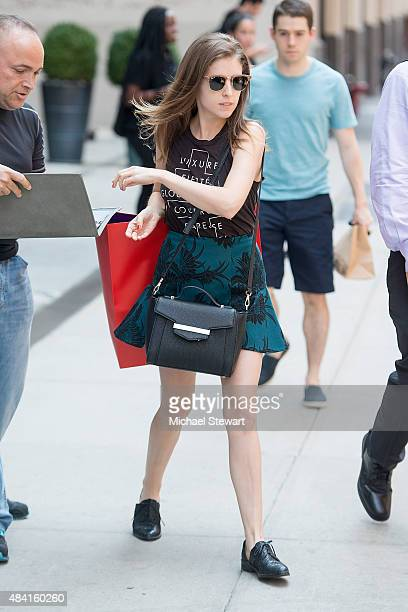 Actress Anna Kendrick seen in SoHo on August 15 2015 in New York City
