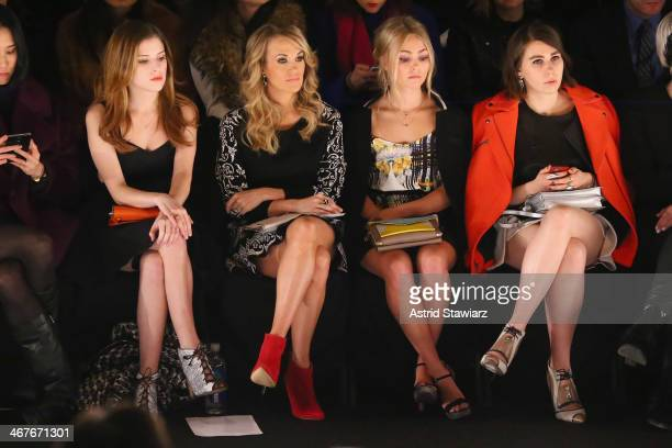 Actress Anna Kendrick singer Carrie Underwood actress AnnaSophia Robb and actress Zosia Mamet attend TRESemme at Rebecca Minkoff fashion show during...