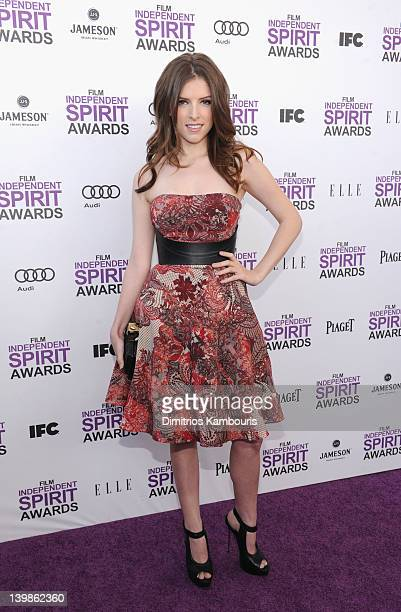 Actress Anna Kendrick with Jameson prior to the 2012 Film Independent Spirit Awards at Santa Monica Pier on February 25 2012 in Santa Monica...