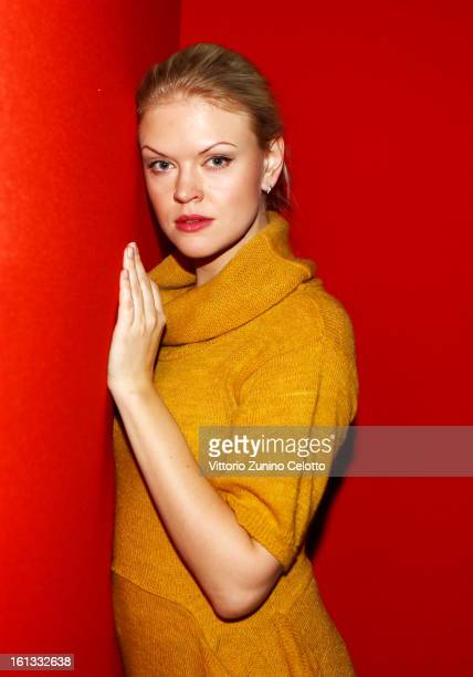 Actress Anna Kotova attends 'A Long and Happy Life' Portrait Session during the 63rd Berlinale International Film Festival at the Berlinale Palast on...