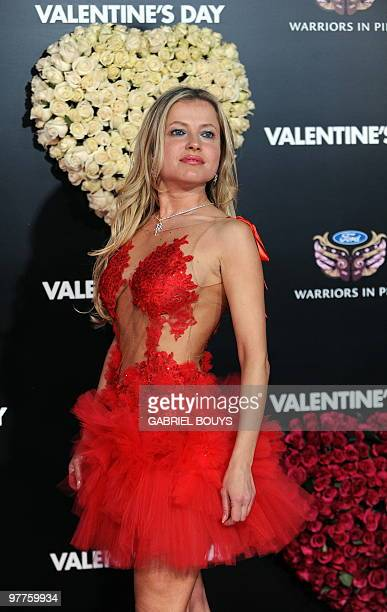 Actress Anna Kulinova arrives at the Los Angeles Premiere for the 'Valentine's Day' film at the Grauman's Chinese Theatre in Hollywood California on...