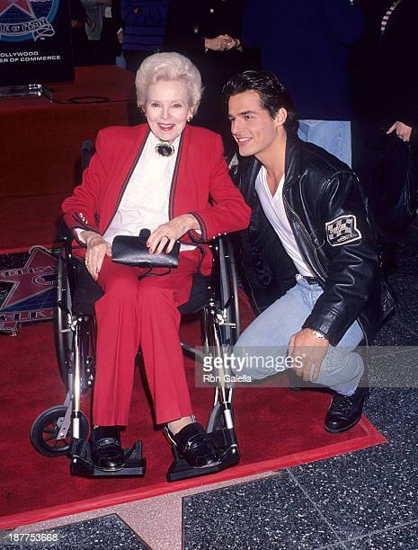 Actress Anna Lee and actor Antonio Sabato, Jr. Attend John Beradino receives a star on the Hollywood Walk of Fame on April 1, 1993 at 6801 Hollywood...