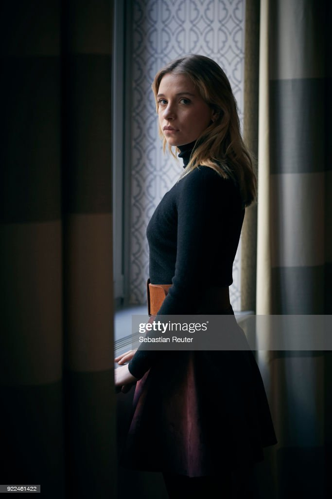 Actress Anna Lena Klenke poses during the 'The Silent Revolution' (Das schweigende Klassenzimmer) portrait session at the 68th Berlinale International Film Festival Berlin at Hotel De Rome on February 20, 2018 in Berlin, Germany.