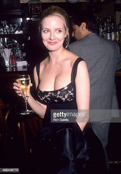 Actress Anna Levine attends Eric Bogosian's OneMan OffBroadway Show Sex Drugs Rock Roll Opening Night Party on February 8 1990 at the Hard Rock Cafe...