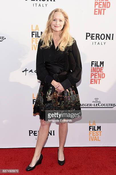 Actress Anna Lise Phillips attends the premiere of 'Lowriders' during opening night of the 2016 Los Angeles Film Festival at ArcLight Cinemas'...