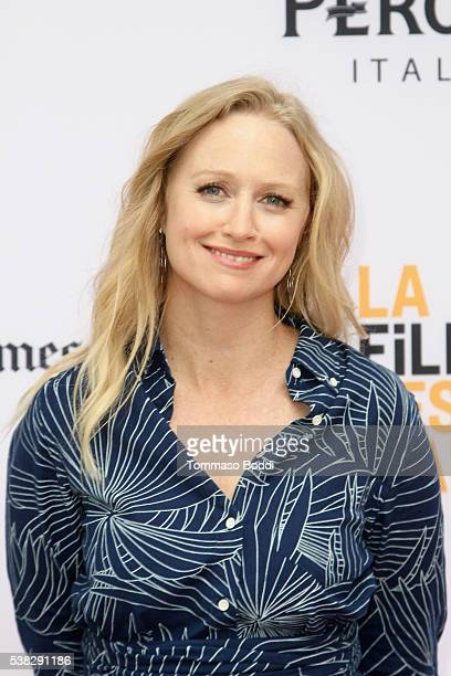Actress Anna Lise Phillips attends the premiere of 'Sensitivity Training' during the 2016 Los Angeles Film Festival at Arclight Cinemas Culver City...