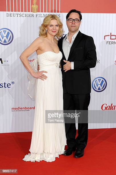 Actress Anna Loos and husband actor Jan Josef Liefers attend the 'German film award 2010' at Friedrichstadtpalast on April 23, 2010 in Berlin,...