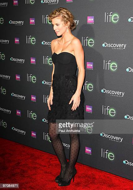 Actress Anna Lynne McCord arrives at the Discovery Channel's premiere of LIFE at the Getty Center on February 25 2010 in Los Angeles California