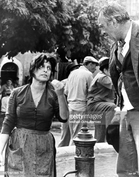 Actress Anna Magnani and actor Anthony Quinn on set of the United Artist movie The Secret of Santa Vittoria in 1969