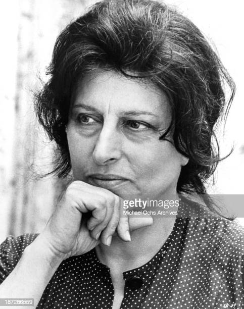 Actress Anna Magnani on set of the United Artist movie The Secret of Santa Vittoria in 1969