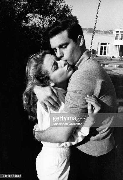 Actress Anna Maria Alberghetti and Buddy Bregman portrait session at home in 1958