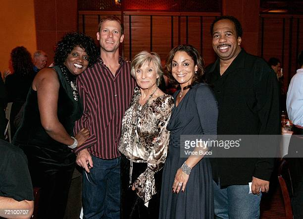 Actress Anna Maria Horsford actor Morgan Englund actress Cloris Leachman actress Jasmine Guy and actor Leslie David Baker at the celebration for...