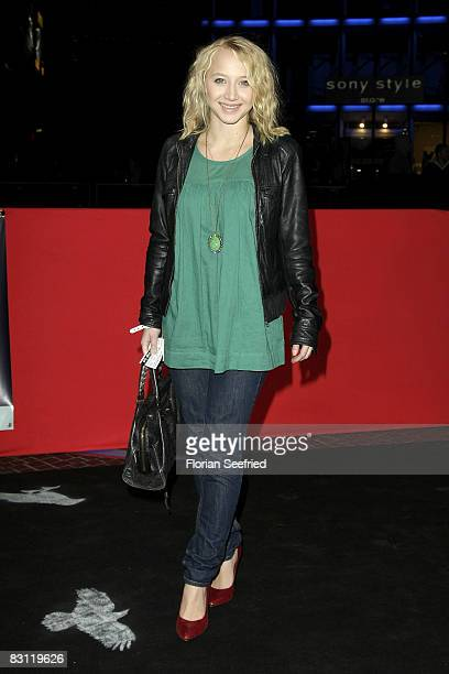 Actress Anna Maria Muehe attends the premiere of Krabat at the CineStar on October 3 2008 in Berlin Germany