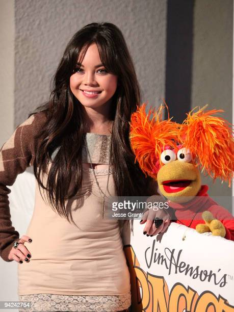 Actress Anna Maria Perez de Tagle arrives at The Jim Henson Company's 'Fraggle Rock' Holiday Toy Drive Benefit at Kitson on Roberston on December 9...