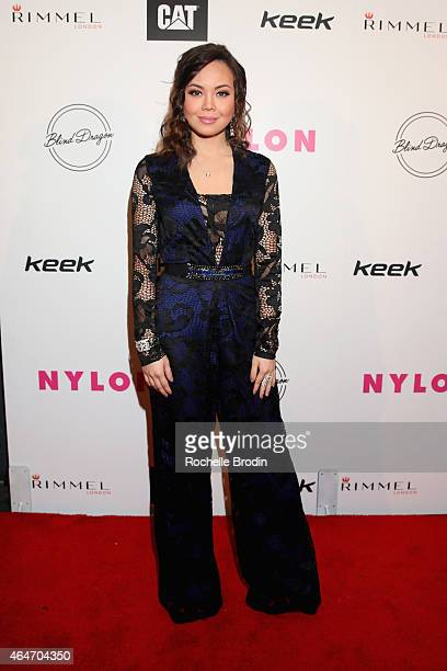 Actress Anna Maria Perez de Tagle attends NYLON Magazine's Spring Fashion Issue Celebration hosted by Rita Ora at Blind Dragon on February 27 2015 in...