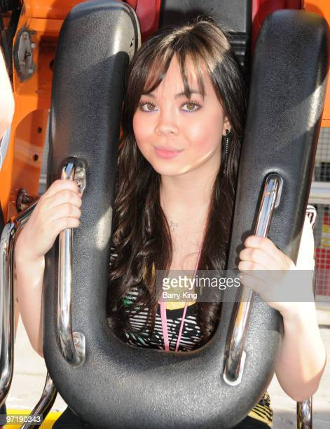 Actress Anna Maria Perez de Tagle attends Pink's Grand Opening at Knott's Berry Farm on February 28 2010 in Buena Park California