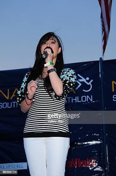 Actress Anna Maria Perez de Tagle attends the Third Annual Nautica South Beach Triathlon on April 11 2010 in Miami Beach Florida