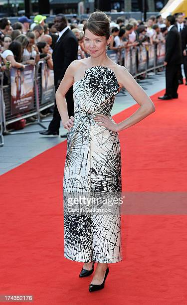 Actress Anna Maxwell Martin attends the London Premiere of 'Alan Partidge Alpha Papa' at Vue Leicester Square on July 24 2013 in London England