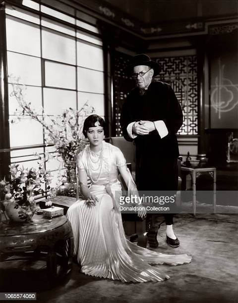 Actress Anna May Wong and E Alyn Warren in a scene from the movie 'Daughter of the Dragon'