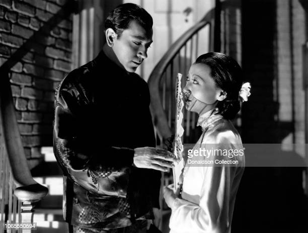 Actress Anna May Wong and George Raft in a scene from the movie Limehouse Blues