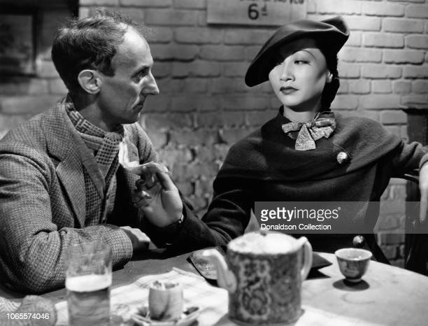 Actress Anna May Wong and John Rogers in a scene from the movie 'Limehouse Blues'